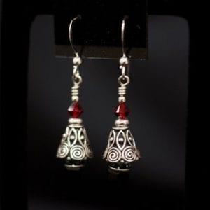 Swirl Christmas Tree Earrings